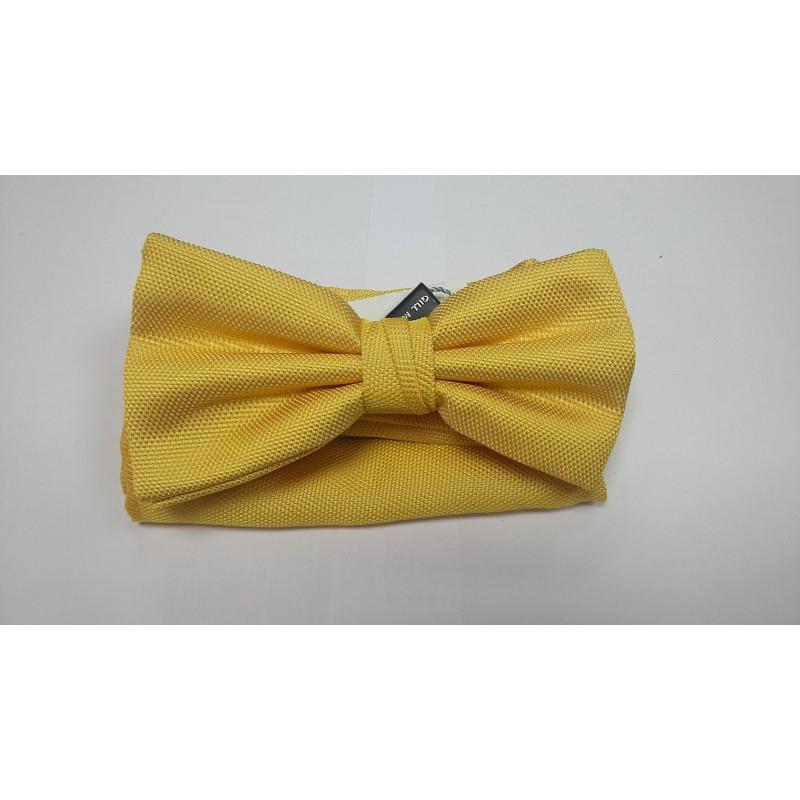 Классическая бабочка для рубашки желтая   - фото 1